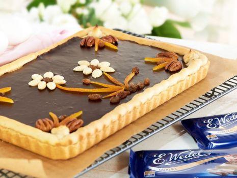 Przepis: Mazurek z wedlowską czekoladą