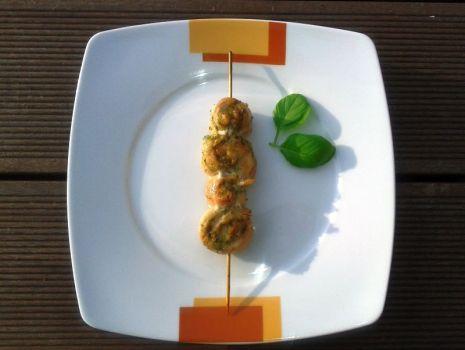 Przepis: Grillowane ślimaczki z zielonym pesto