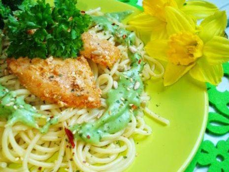 Przepis: Makaron z sosem brokułowym