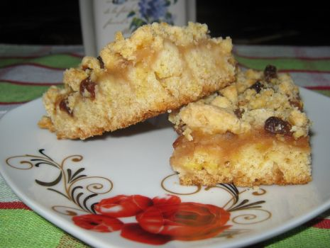 Przepis: Ciasto kruche z musem jabłkowo dyniowym