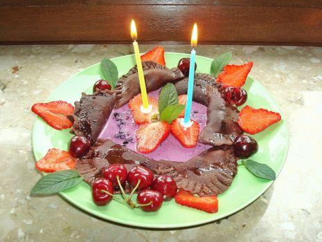 Przepis: Pierogi orkiszowe, czekoladowe z serem