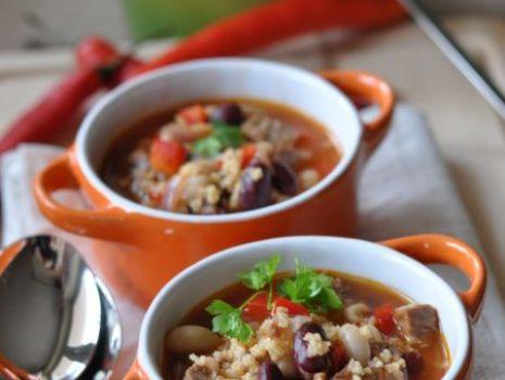Przepis: Zupa meksykańska z kaszą jaglaną