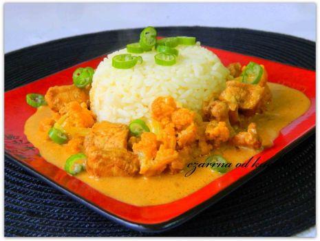 Przepis: Curry z kurczaka z kalafiorem