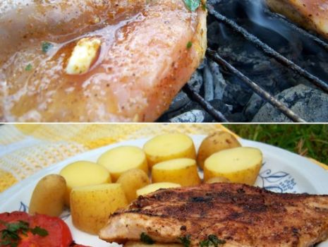 Przepis: Grillowana pierś z kurczaka przekładana pietruszką i serkiem