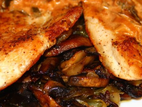 Przepis: Kurczak w sosie serowo-porowym
