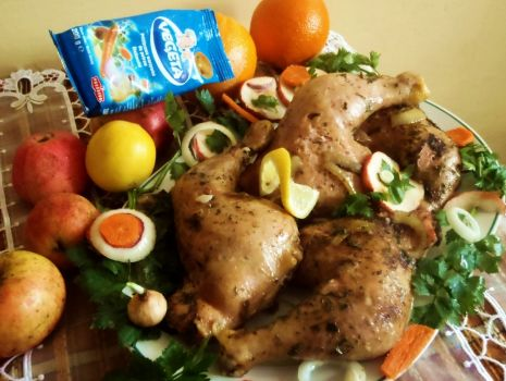 Przepis: Pieczone udka z kurczaka
