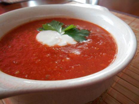 Przepis: Krem z pomidorów z imbirem