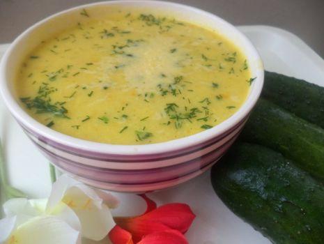 Przepis: Zupa krem ogórkowo- serowa