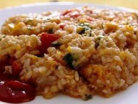 Przepis: Zapiekanka ryżowa z kurczakiem