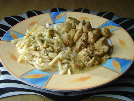 Przepis: Kurczak Garam Masala z Makaronem