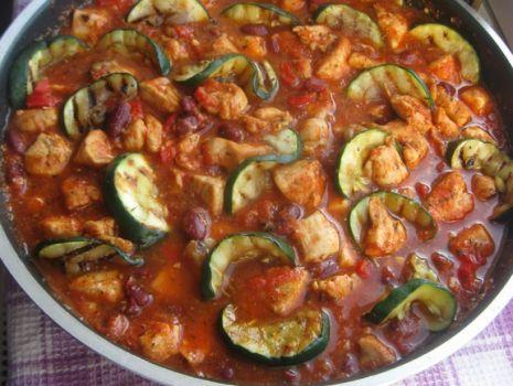 Przepis: Kurczak duszony w pomidorach