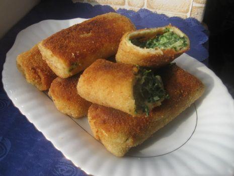 Przepis: Krokiety ze szpinakiem serem goronzola