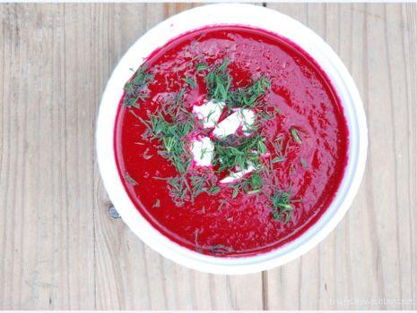 Przepis: zupa krem z pieczonych buraków