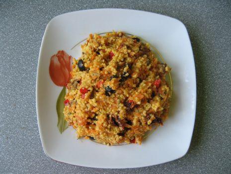 Przepis: Kasza jaglana z warzywami