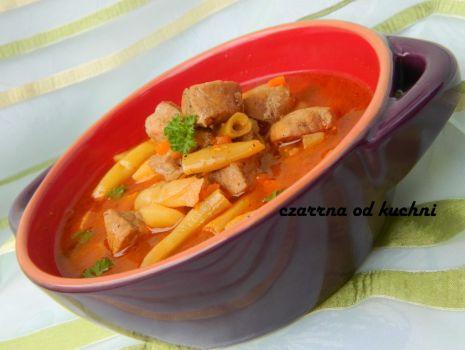 Przepis: Zupa a'la gulaszowa