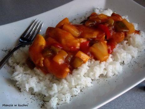 Przepis: Kurczak curry w sosie słodko - kwaśnym