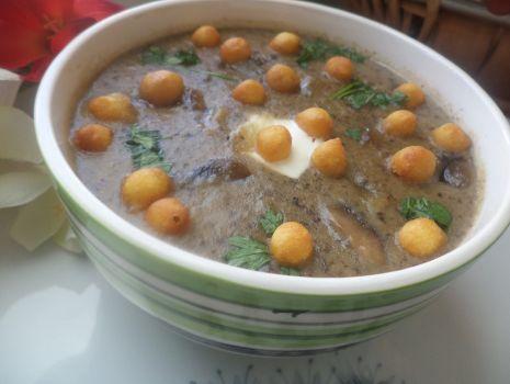 Przepis: Zupa krem z pieczarek