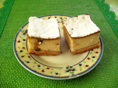Przepis: sernik z cukrem pudrem
