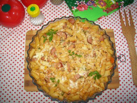 Przepis: zapiekanka makaronowa z warzywami