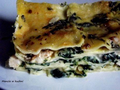 Przepis: Lasagne z kurczakiem i szpinakiem