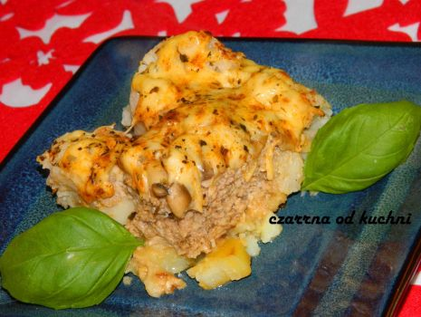 Przepis: Zapiekanka z mięsem mielonym i kalafiorem