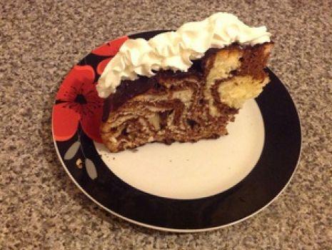 Przepis: Ciasto zebra z przepisu pani  Ewy Wachowicz