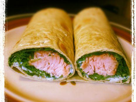 Przepis: Totille nadziewane szpinakiem i łososiem, szybki lunch