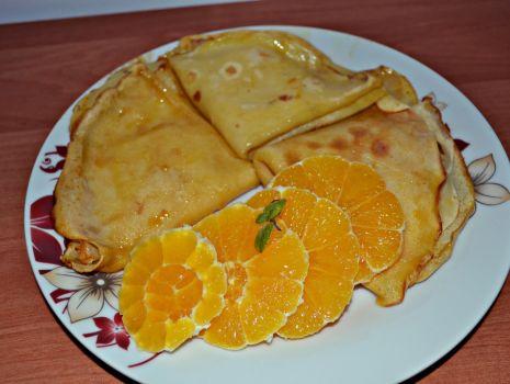 Przepis: Naleśniki pomarańczowe Suzette