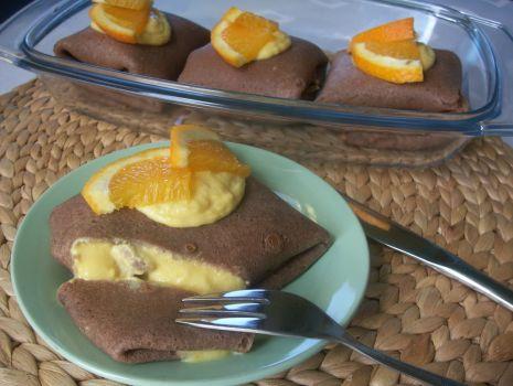 Przepis: Kakaowe naleśniki pomarańczowe