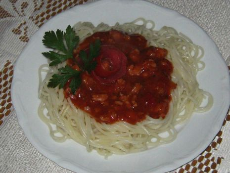 Przepis: Spaghetti z sosem