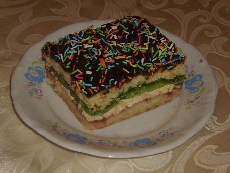 Przepis: Ciasto z masą budyniowo- kokosową