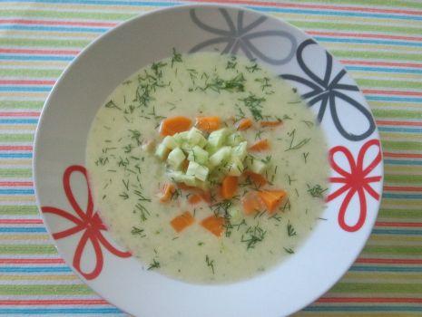 Przepis: Zupa krem ze świeżego ogórka