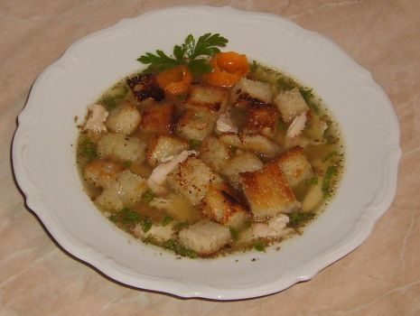 Przepis: Zupa z grzankami