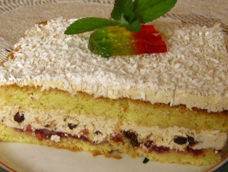 Przepis: Ciasto z kremem i bakaliami