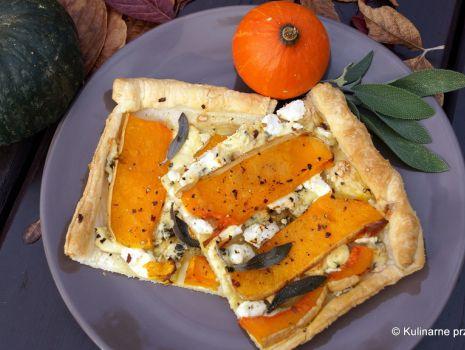 Przepis: Tarta dyniowa z serem pleśniowym