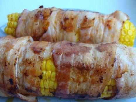 Przepis: Kukurydza w boczku