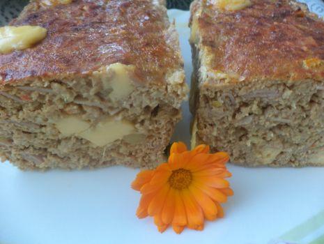 Przepis: Klops z serem i szynką