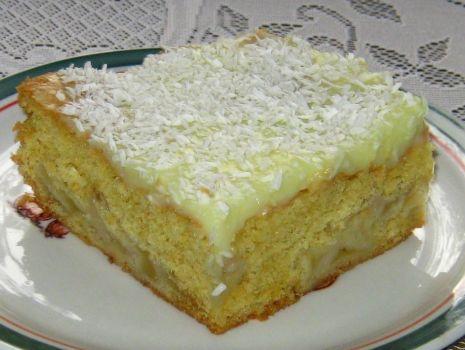 Przepis: Ciasto z jabłkami i budyniem