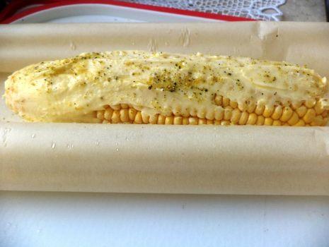 Przepis: Kukurydza z piekarnika