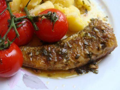 Przepis: Ryba w sosie maślanym z pomidorkami