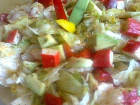 Przepis: Sałatka z Surimi i Avocado
