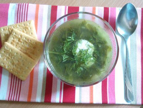 Przepis: Zielona zupa ze szpinakiem