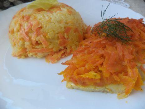 Przepis: Filety drobiowe z marchewką i  Mascarpone