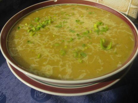 Przepis: Zupa krem z cebuli i pora