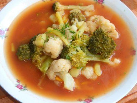 Przepis: Zupa kalafiorowo-brokułowa