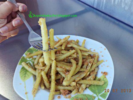 Przepis: Fasolka szparagowa z bułką tartą