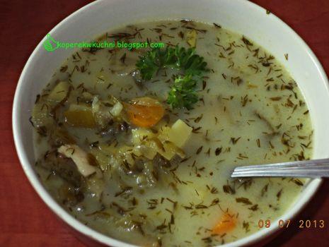 Przepis: Zupa ogórkowo-koperkowa