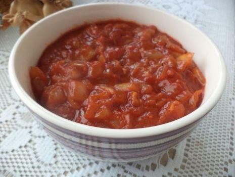 Przepis: Sos pomidorowo- winny do ryby