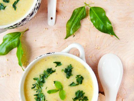 Przepis: Zupa z dyni, kabaczka i cukinii z kaszką kuskus
