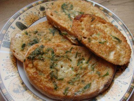 Przepis: Chlebek smażony w ziołach
